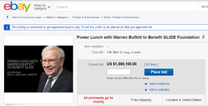 Having lunch with Warren Buffett
