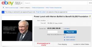 Having lunch with Warren Buffett