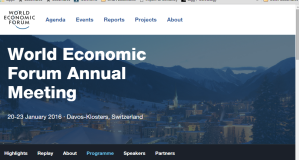 World Economic Forum 2016 at Davos