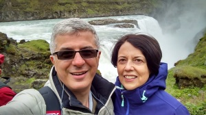Great waterfalls with my wife Sara, Iceland