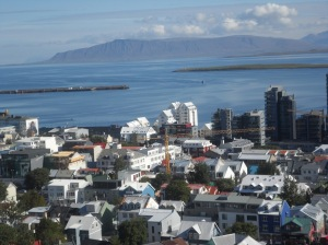 Reykjavik breathtaking view from the top of church